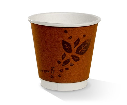 8oz90 Biodegradable Double Wall Cups - Kraft